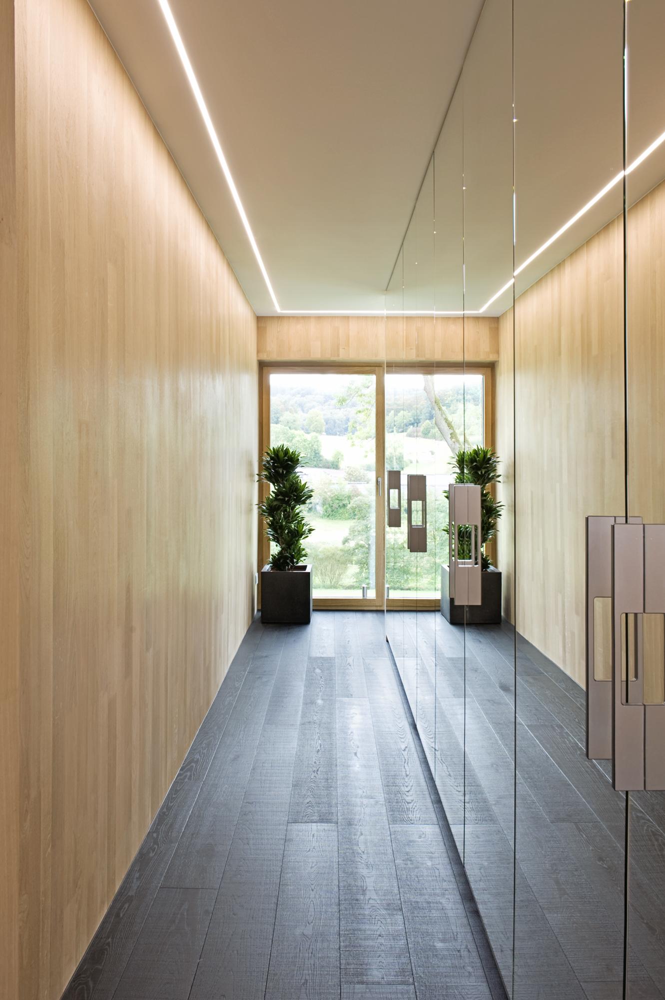 Maison témoin écologique hybride en béton et bois massif au lotissement «Koppelwee I» à Mersch.