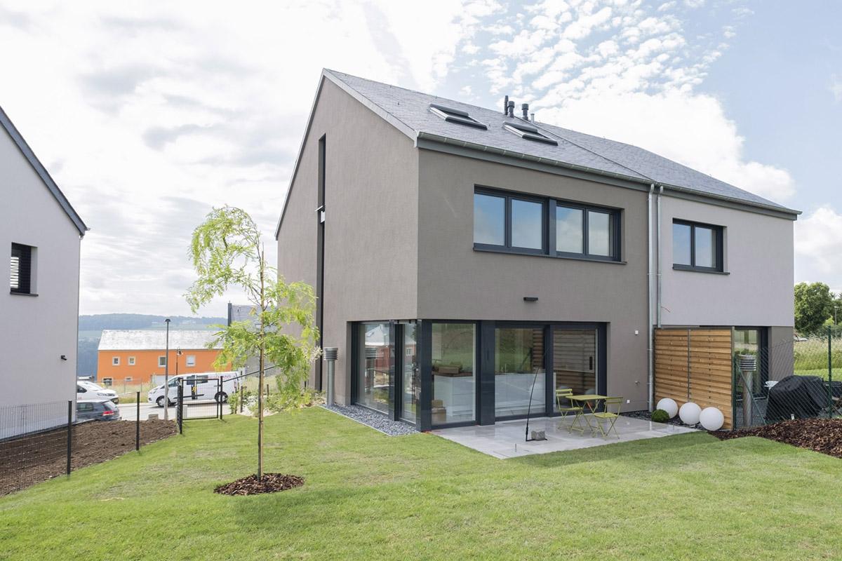 Maison Témoin lot 42 à Hollenfels/Mersch, vue arrière