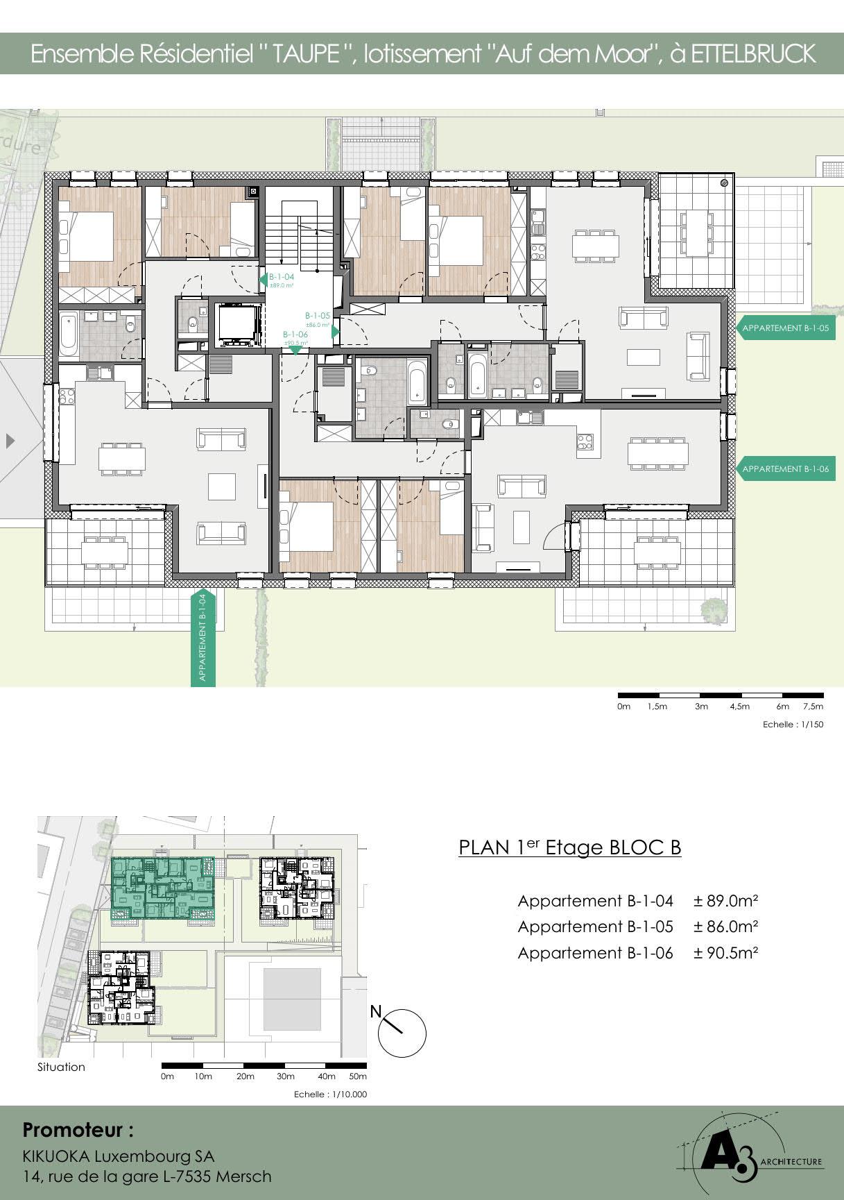 Bloc B: Etage 1