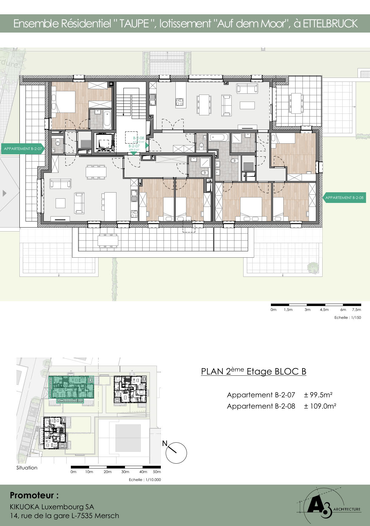 Bloc B: Etage 2
