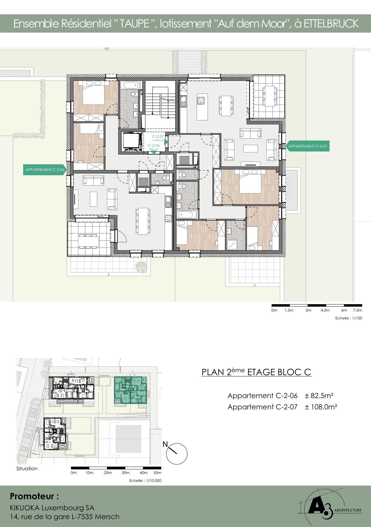 Bloc C: Etage 2