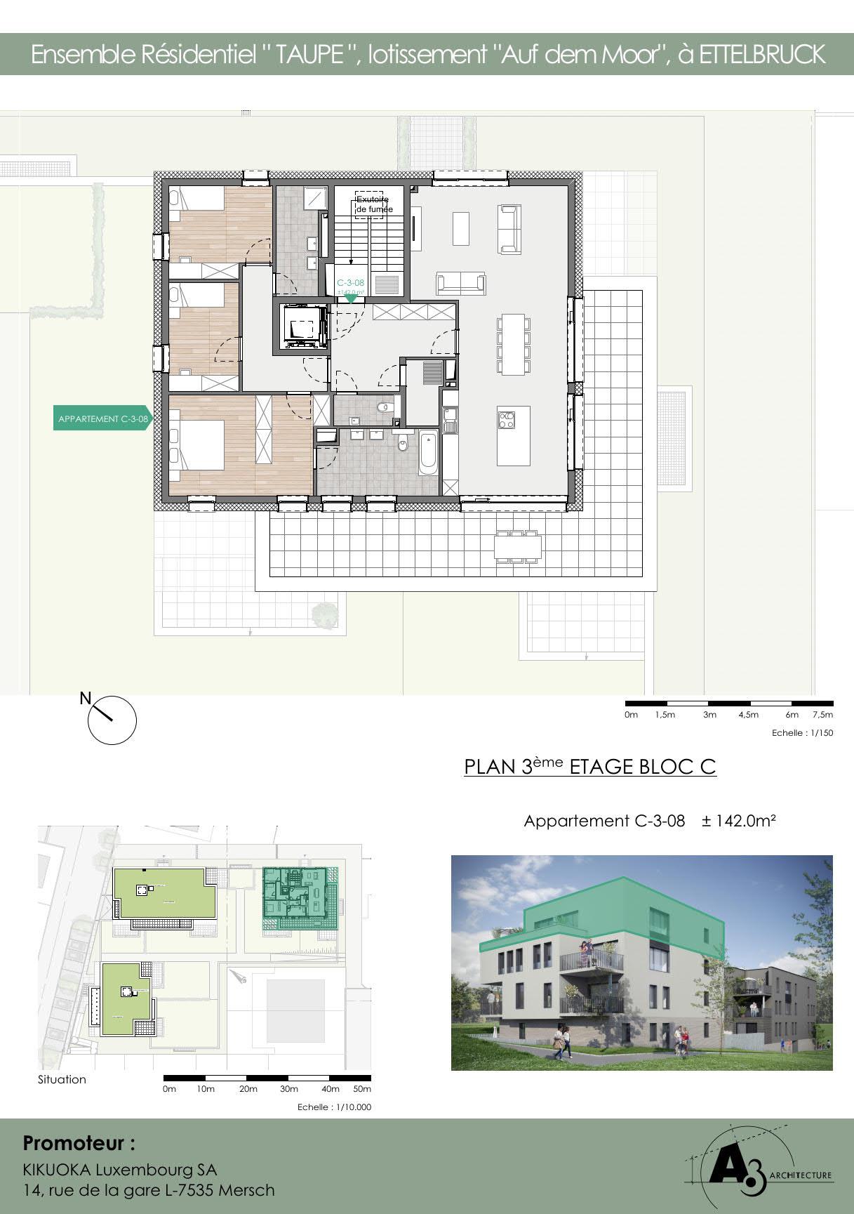 Bloc C: Etage 3